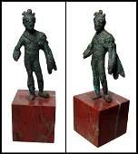 210: Roman, small bronze figure of Genius
