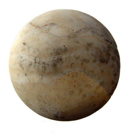 6: New Kingdom alabaster lid to a cosmetic jar
