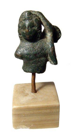 13: Roman bronze torso of winged Eros