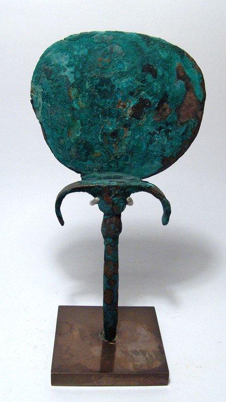 73: Egyptian bronze mirror, Late Period