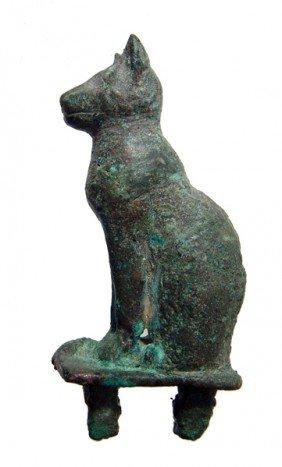 Bronze Figure Of A Seated Cat, Late Period