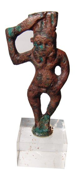 78: Bbronze figure of the god Bes, Late Period