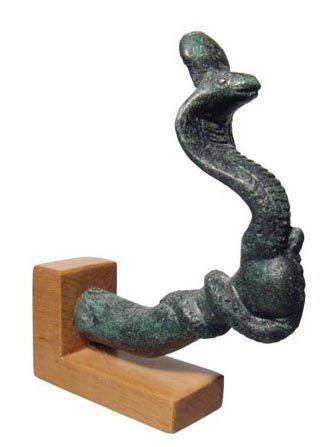 79: Graeco-Roman bronze arm holding a cobra