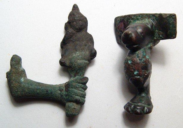 80: Pair of Roman bronzes from Egypt