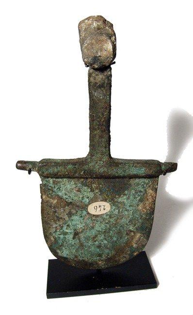 81: Roman heavy bronze tool or implement