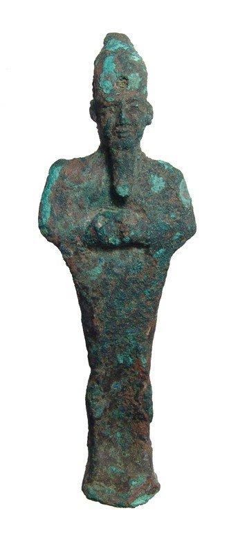 4: Egyptian bronze figure of the god Osiris
