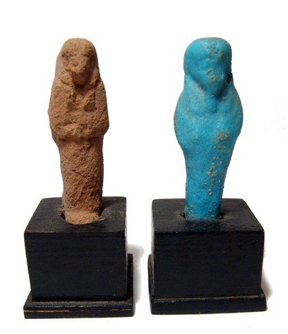 6: Egypt. Pair of Late Period ushabtis