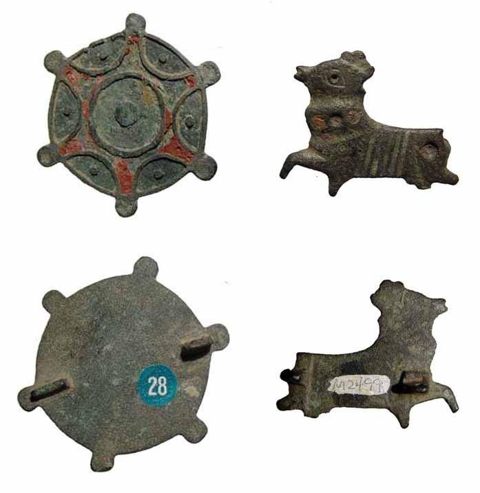 13: Pair of Romano-British bronze brooches