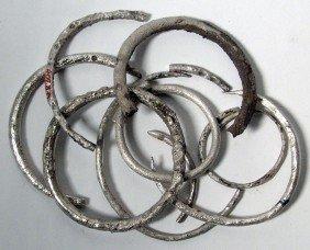 Lot Of 10 Silver Bracelets, Western Asia