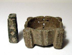 2 Bactrian Chlorite Vessels, 3rd Millennium BC