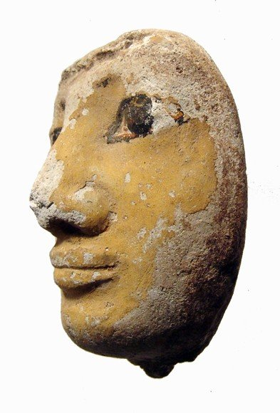 45: Egypt. Attractive limestone human face - 2