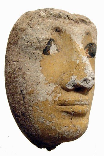 45: Egypt. Attractive limestone human face - 3