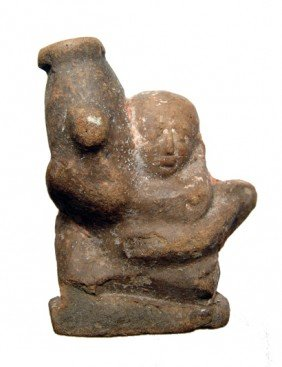 Terracotta Figure Of A Dwarf With Large Phallus