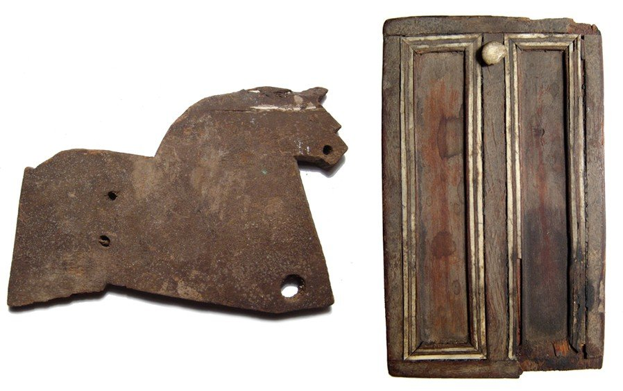 87: Pair of very interesting Egyptian wooden items