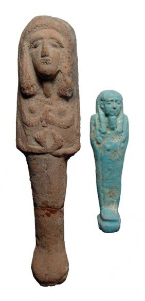 Nice Lot Of 2 Egyptian Ushabtis