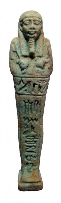 Incredibly Well Detailed Green Faience Ushabti