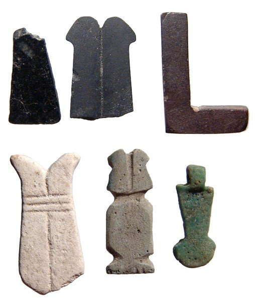 113: Lot of 6 scarcer amulet types, Late Period