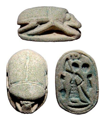 122: Pleasing New Kingdom faience scarab