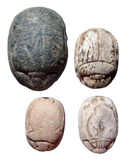 124: Nice lot of 4 Egyptian scarabs