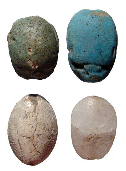 125: Lot of 4 Egyptian scarabs