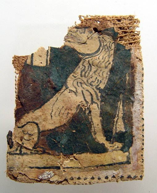 """135: Cartonnage panel with the Ammit, """"devourer"""""""