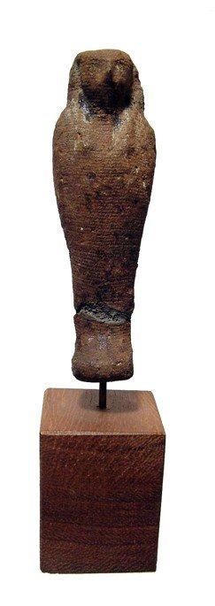 136: Nice linen and resin mummiform figure of Horus