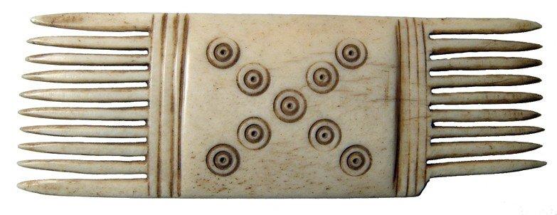 141: Coptic bone comb from Egypt
