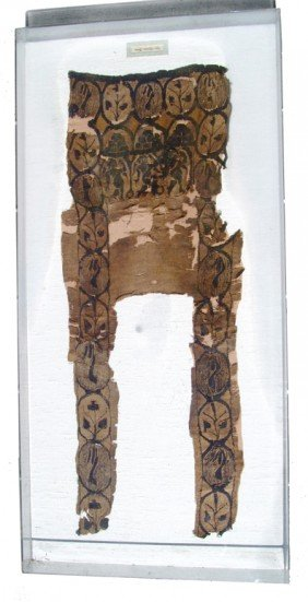 Large Portion Of A Coptic Tunic In Shadow Box