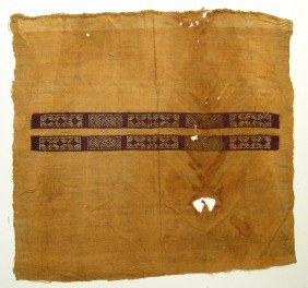 Coptic Textile Panel, Nicely Embroidered Strips