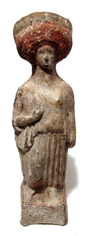 172: Large terracotta standing woman, Megaris