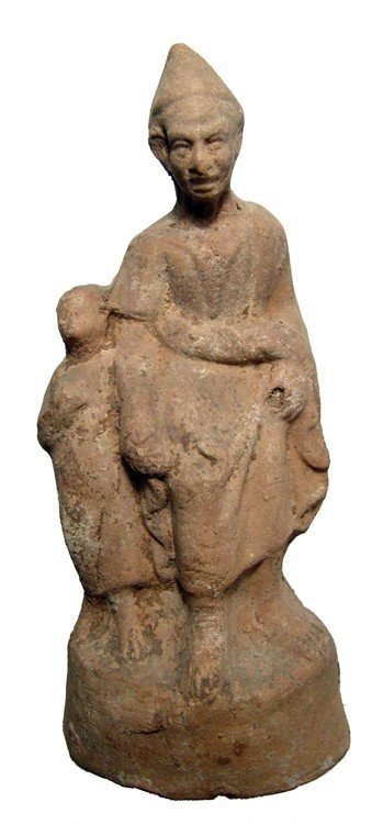 175: Grotesque or elderly man with youth, Hellenistic