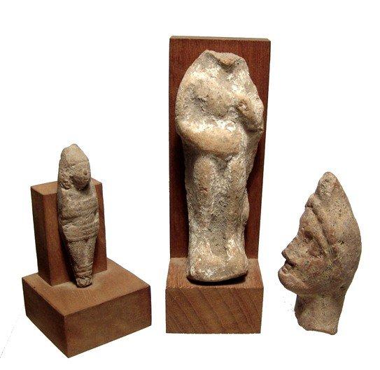177: Lot of 3 Near Eastern terracotta votive figures
