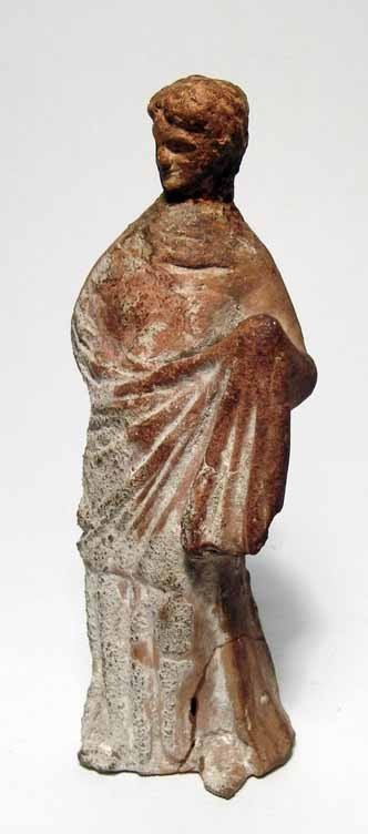 179: Hellenistic terracotta statuette of a woman
