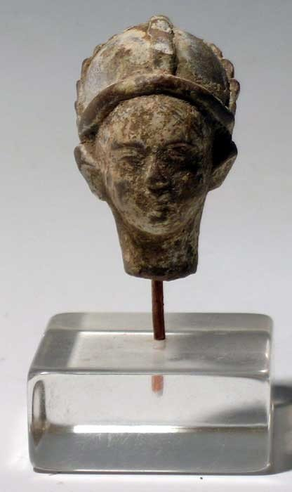 180: A Hellenistic terracotta head of a young man