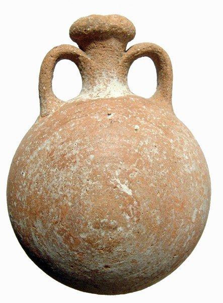 184: Late Bronze Age terracotta pilgrim's flask