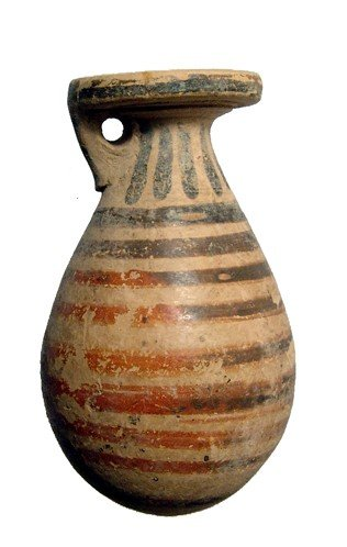 190: Striped Corinthian alabastron