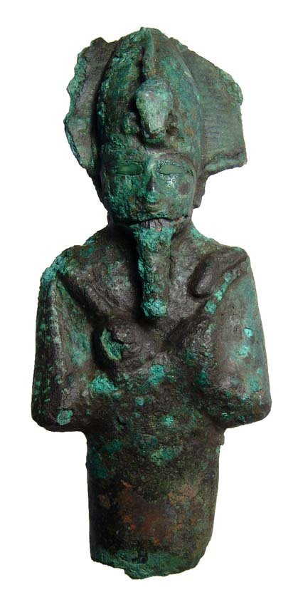 1: Egypt. Large bronze head and torso of Osiris