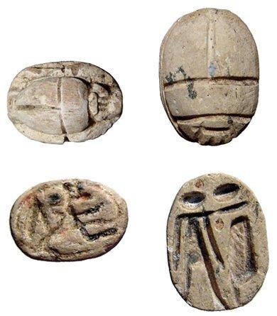 4: Pair of Egyptian steatite scarabs