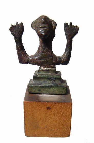 6: Persia. Luristan bronze votive on stepped base