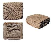 104: Large Egyptian steatite plaque, New Kingdom