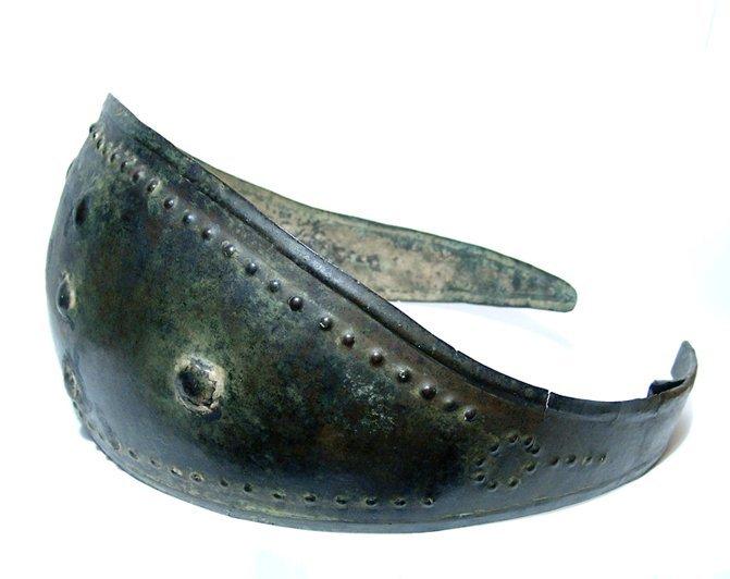 136: Excellent, rare Villanovan bronze elliptical belt