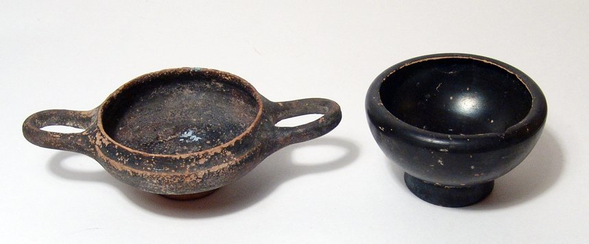 223: Pair of Greek black-ware pottery vessels - 2