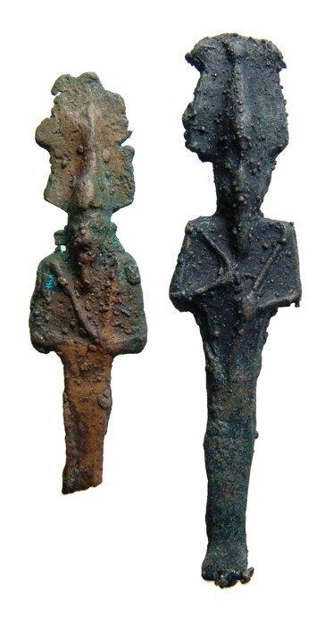 1: 2 Egyptian bronze figures of Osiris, Ex Negus coll