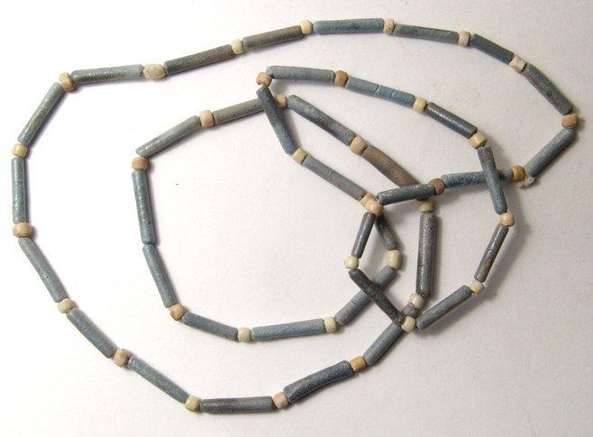 3: Egyptian faience bead necklace, Ex Negus coll.