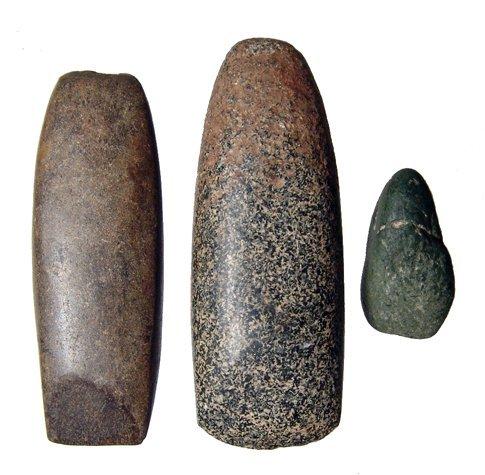 16: Lot of 3 Predynastic stone axes