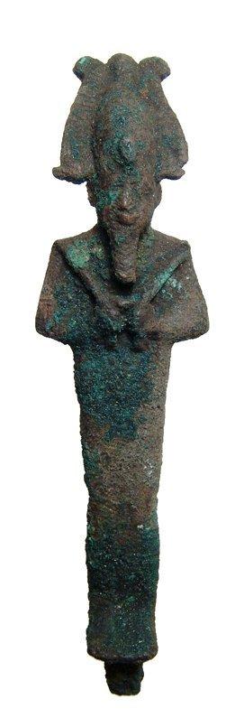 22: Egyptian bronze Osiris, ex Cairo Museum 1908