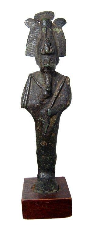 23: Egyptian bronze Osiris, ex Cairo Museum 1908