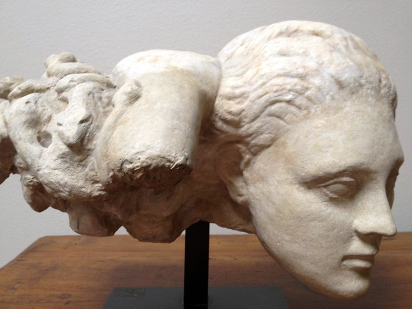 72: Excellent Roman marble head of Medusa