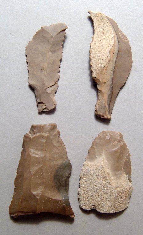 2: 4 Egyptian Pre-Dynastic tools, Ex Royal Athena