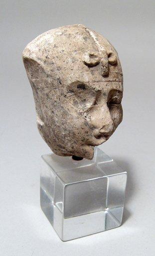 7: Egyptian limestone head of a pharaoh, ex Alex Malloy